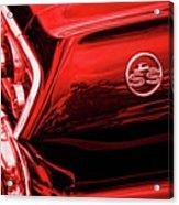 1963 Chevrolet Impala Ss Red Acrylic Print