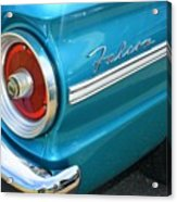 1963 Ford Falcon Tail Light And Logo Acrylic Print