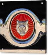 1963 Jaguar Xke Roadster Emblem Acrylic Print