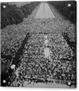 1963 March On Washington, At The Height Acrylic Print by Everett