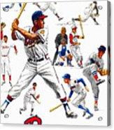 1963 Milwaukee Braves Yearbook Acrylic Print