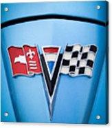 1964 Chevrolet Corvette Sting Ray Gm Styling Coupe Hood Emblem -0126c45 Acrylic Print