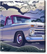1964 Chevrolet Short Bed Custom Half Ton In The Morning Mist Acrylic Print
