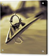1964 Ford Galaxie 500 Xl Hood Ornament - Sepia Acrylic Print