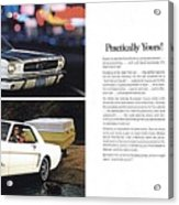 1964 Ford Mustang-10-11 Acrylic Print