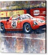 1964 Lemans 24 Ferrari 275p Ludovico Scarfiotti  Acrylic Print