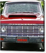 1964 Plymouth Savoy Hemi  Acrylic Print