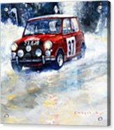1964 Rallye Monte Carlo Mini Cooper S Hopkirk Liddon Winner Acrylic Print