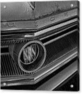 1965 Buick Hood Ornament B And W Acrylic Print