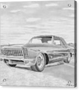 1965 Buick Riviera Gs Classic Car Art Print  Acrylic Print