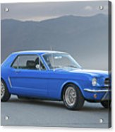 1965 Ford Mustang 'blue Coupe' I Acrylic Print