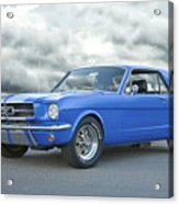 1965 Ford Mustang 'blue Coupe' IIa Acrylic Print