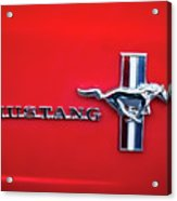 1965 Ford Mustang Emblem 4 Acrylic Print
