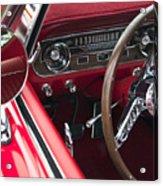 1965 Ford Mustang Fastback Dash Acrylic Print