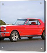 1965 Ford Mustang 'red Coupe' I Acrylic Print