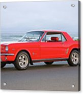 1965 Ford Mustang 'red Coupe' II Acrylic Print