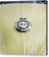 1965 Yellow Sting Ray Gas Cap Acrylic Print