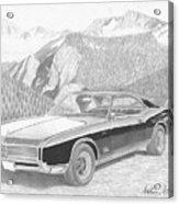 1966 Buick Riviera Classic Car Art Print Acrylic Print