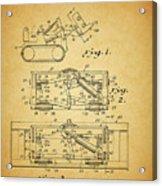 1966 Bulldozer Patent Acrylic Print