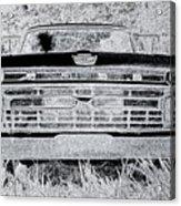 1966 Ford F100 Sketch Acrylic Print