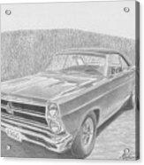 1966 Ford Fairlane Muscle Car Art Print Acrylic Print