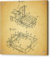 1966 Forklift Clamp Patent Acrylic Print