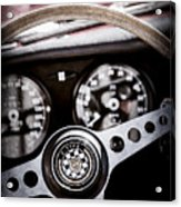 1966 Jaguar Xk-e Steering Wheel Emblem -2489ac Acrylic Print