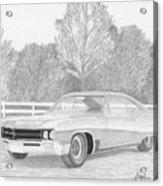 1967 Buick Wildcat Classic Car Art Print Acrylic Print