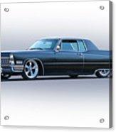 1967 Cadillac Custom Coupe Deville Acrylic Print