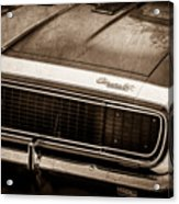 1967 Chevrolet Camaro Ss350 Convertible Grille Emblem -0704s Acrylic Print