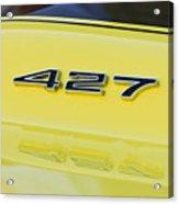 1967 Chevrolet Corvette Sport Coupe Emblem Acrylic Print