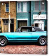 1967 Cougar Gt _hdr Acrylic Print
