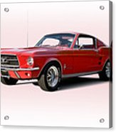 1967 Ford Mustang Fastback Acrylic Print