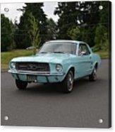 1967 Ford Mustang Watts Acrylic Print