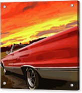 1967 Plymouth Satellite Convertible Acrylic Print