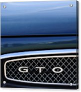 1967 Pontiac Gto Grille Emblem Acrylic Print