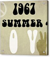 1967 Summer Of Love Newspaper Acrylic Print