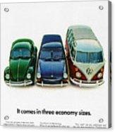 1967 Volkswagen Beetle Squareback And The Box Acrylic Print