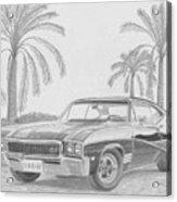 1968 Buick Skylark Gs Muscle Car Art Print Acrylic Print