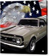 1968 Camaro Ss Tribute Acrylic Print