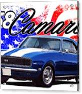 1968 Camaro Stars And Stripes Acrylic Print