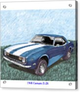 1968 Chevrolet Camaro Z 28 Acrylic Print