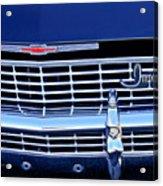 1968 Chevrolet Impala Ss Grille Emblem Acrylic Print