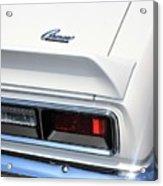 1968 Chevy - Chevrolet Camaro Tail Lights And Logo Acrylic Print