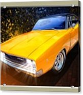 1968 Dodge Charger Coupe Acrylic Print