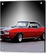 1968 Pontiac Firebird 400 Convertible Acrylic Print