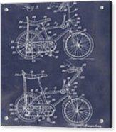 1968 Schwinn Stingray Patent In Blueprint Acrylic Print