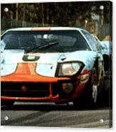1969 24 Hours Of Le Mans Ford Gt40 First Place, Mixed Media  Acrylic Print