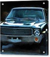 1969 Amx In Racing Green Acrylic Print