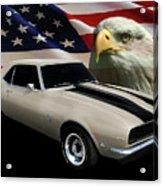 1969 Camaro Rs Tribute Acrylic Print